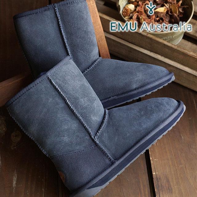 【在庫限り】emu エミュー シープスキン ブーツ STINGER LO スティンガー ロー INDIGO靴 (W10002 FW15)/エミューブーツ 正規品 エミュ ブーツ BOOTS【EUロゴ】【ts】