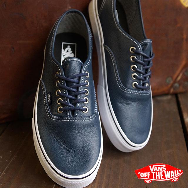 VANS vans sneakers mens Womens CLASSICS AUTHENTIC authentic (LEATHER) DRESS  BLUES STRIPES (VN-03Z3HUM FW15) 99c16d55d