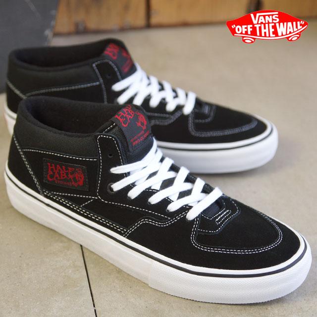 VANS vans sneakers men gap Dis HALF CAB PRO half cab pro BLACK WHITE RED  (VN-0VFDBWT FW15) shoetime a26f5eef5