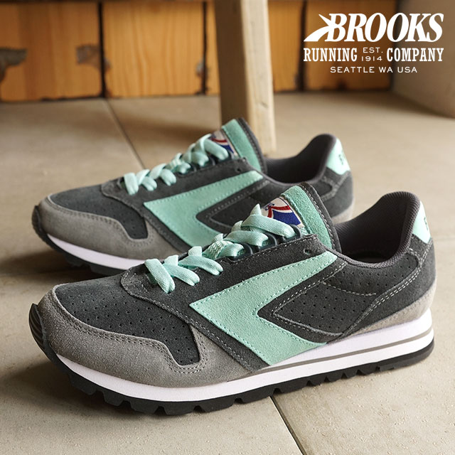 9828cdfae239d BROOKS Brooks Sneakers Shoes women women s CHARIOT WMNS HERITAGE heritage  chariot Anthracite Wild Dove Brook Green (1201711B-015 HO15)