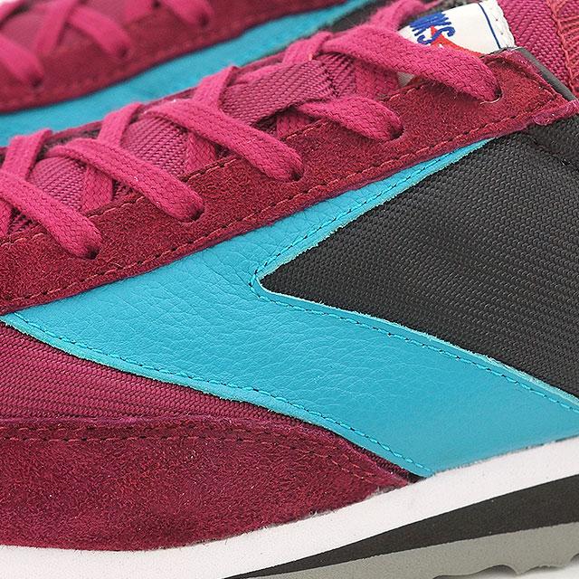 3a0448a58b5e1 BROOKS Brooks sneakers shoes Lady s women WMNS VANGUARD vanguard Black Beet  Red Tile Blue (1201591B-037 HO15) shoetime