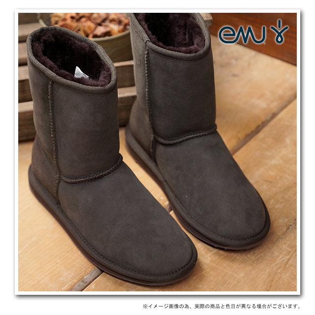 【在庫限り】emu エミュー オーストラリア ムートンブーツ STINGER LO スティンガー ロー 耐水シープスキン CHOCOLATE 靴 (W10002)【USロゴ】【ts】 【コンビニ受取対応商品】