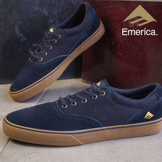 EMERICA emerica skate shoes SLIM VULC PROVOST Provost slim varca NAVY/GUM  (HO15)