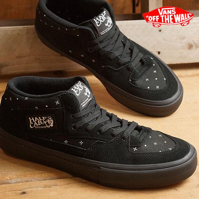 90802b86283d49 Vans half cab Pro VANS mens Womens sneakers HALF CAB PRO (BANDANA) BLACKOUT  (VN000VFDK1I FW16)