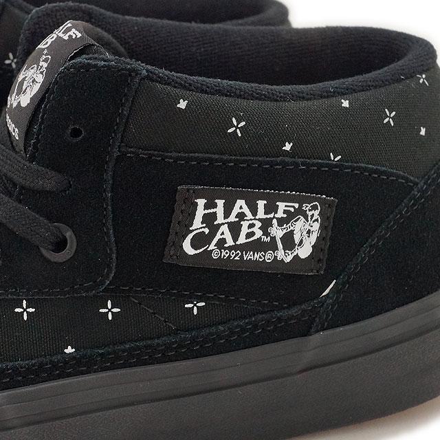 1d33de20500 Vans half cab Pro VANS mens Womens sneakers HALF CAB PRO (BANDANA) BLACKOUT  (VN000VFDK1I FW16)