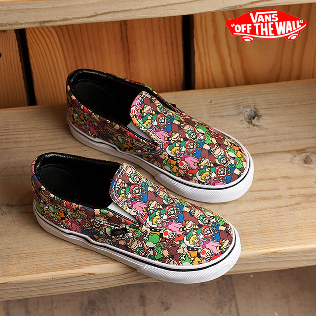 93e014e9ae Vans X Nintendo classical music slip-on VANS kids Jr. sneakers slip-ons CLASSIC  SLIP-ON (Nintendo) SuperMarioBros multi (VN0004J2K5A FW16) shoetime