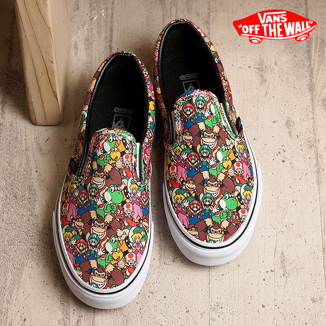 960b2e5397 Vans X Nintendo classical music slip-on VANS kids toddler sneakers slip-ons CLASSIC  SLIP-ON (Nintendo) SuperMarioBros multi (VN000ZCRK5A FW16) shoetime