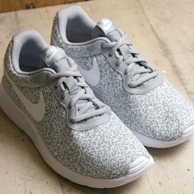 Nike women tongue Jun print NIKE Lady s WMNS TANJUN PRINT wolf gray   wolf  gray   white (820 e46680699