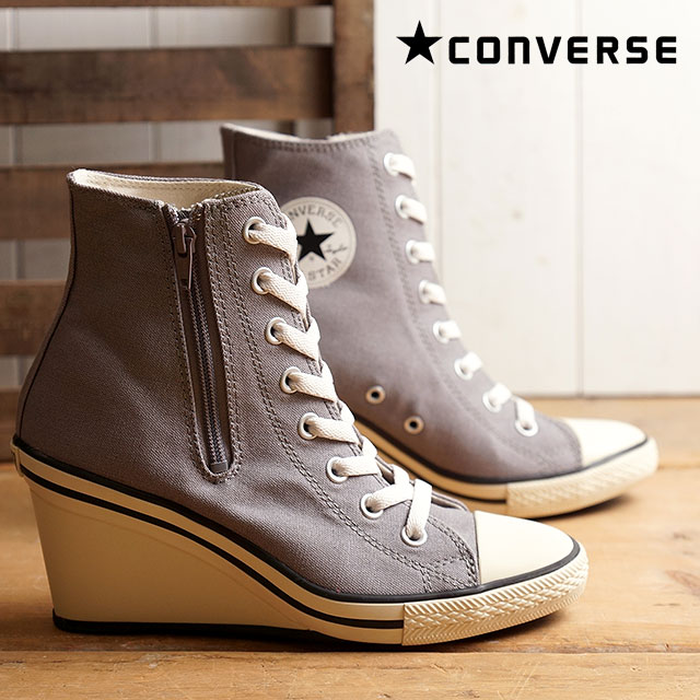 b2e9a86be5b4 Converse all-star wedges zip Z cut CONVERSE ALL STAR WEDGE Z HI grey  (32099437 FW16)