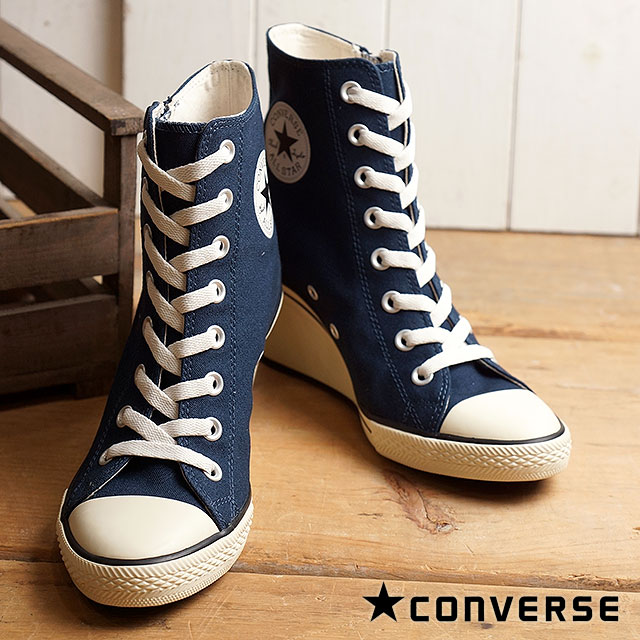debd859a2e69 Converse all-stars wedge zip Z higher frequency elimination CONVERSE ALL  STAR WEDGE Z HI navy (32099435 FW16) shoetime