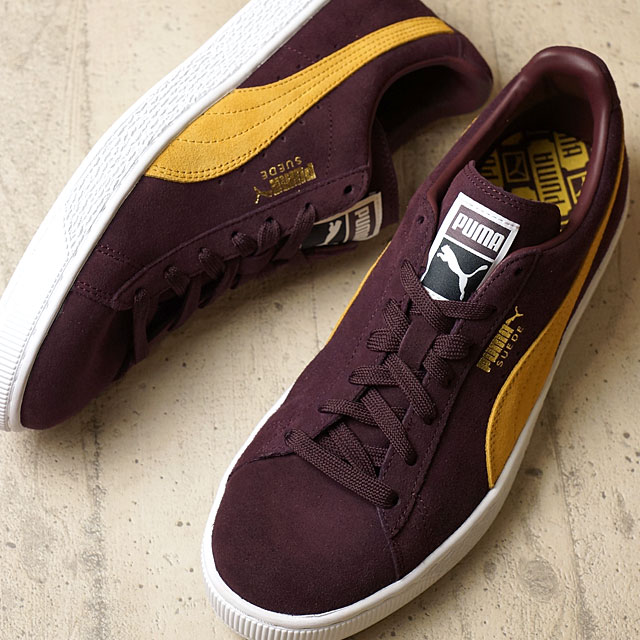 best sneakers 9ca1a 417e0 Puma suede cloth classic positive PUMA men gap Dis sneakers SUEDE CLASSIC +  wine tasting / blight gold (356,568-84 FW16) shoetime