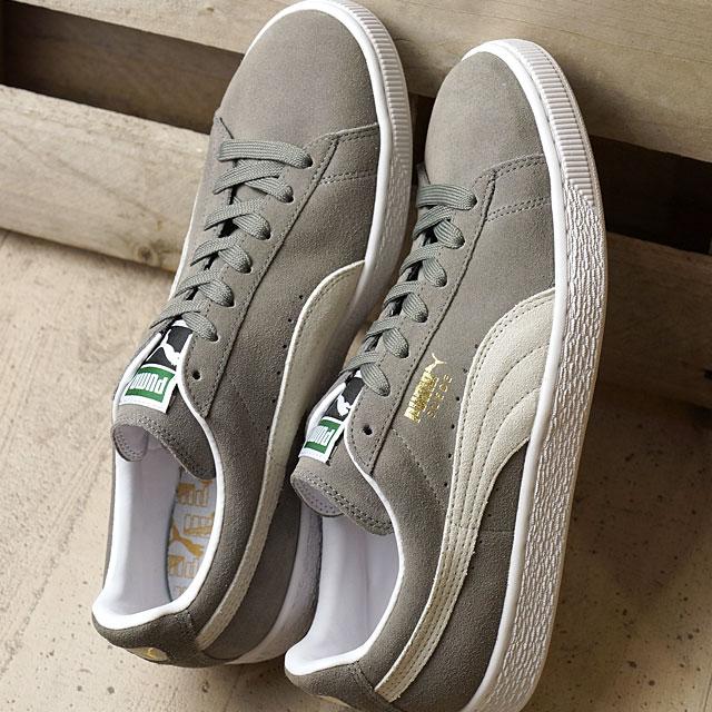 4428be39b8e Puma suede cloth classic positive PUMA men gap Dis sneakers SUEDE CLASSIC +  tea pull gray   white (352