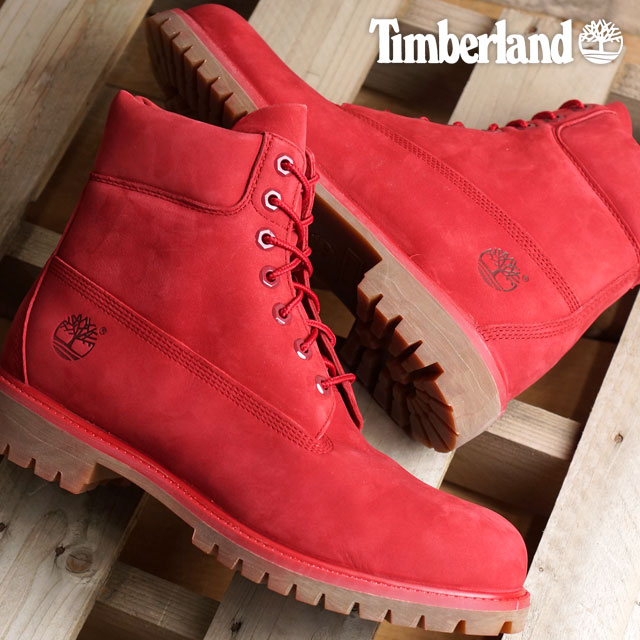 6 inches of Timberland premium boots Timberland men boots 6inch Premium Red  Nubuck Monochromatic (A1149 FW16) shoetime 26258e3b0