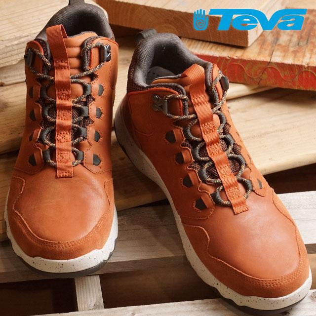 Teva men arrow Wood Lux mid waterproof Teva waterproofing specifications sneakers MENS Arrowood Lux Mid WP COGNAC (1013643 COG FW16) shoetime