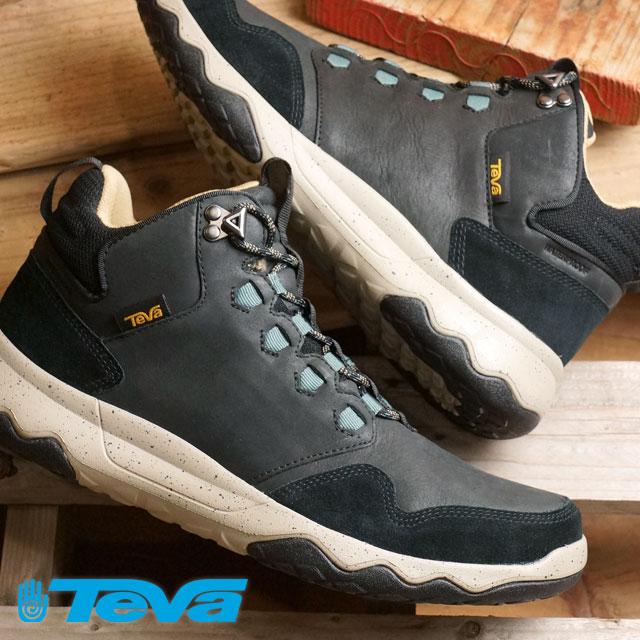 Teva men arrow Wood Lux mid waterproof Teva waterproofing specifications sneakers MENS Arrowood Lux Mid WP BLACK (1013643 BLK FW16) shoetime