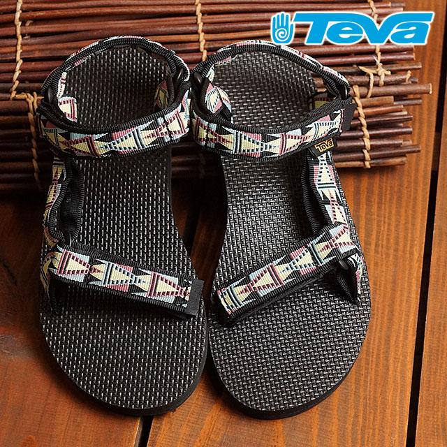 fe3690090d45f Teva Lady s original universal Teva sandals WMNS Original Universal MOSAIC  BLACK MULTI (1003987-MBMT FW16) shoetime