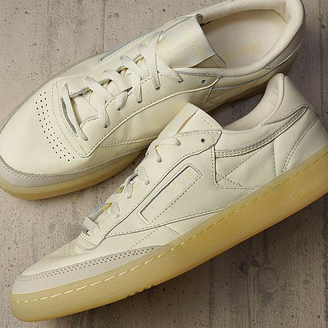 92d1e7b4759c86 Reebok classical music club C 85 butter software Reebok CLASSIC men gap Dis  sneakers CLUB C 85 BS OLYMPIC CREME WASHED YELLOW (AR1423 FW16) shoetime