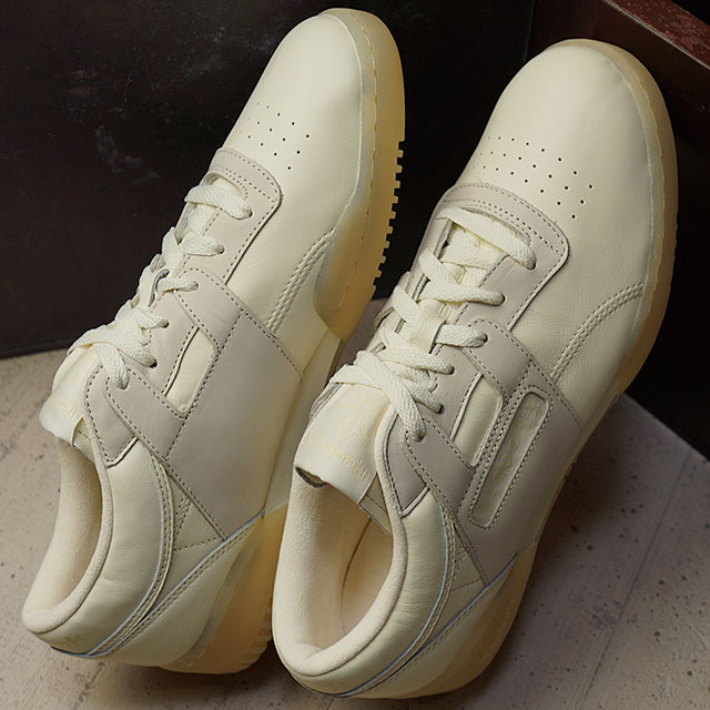 6ba6de7f800288 Reebok classical music practice game roque Lean butter software Reebok  CLASSIC men gap Dis sneakers WORKOUT LO CLEAN BS OLYMPIC CREME WASHED YELLOW  (AR1421 ...
