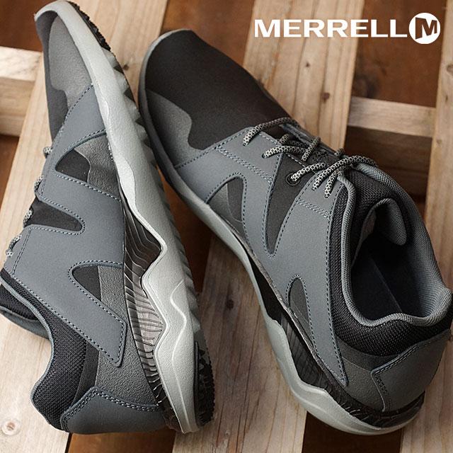becb8fb81a 1 メレル MERRELL men six 8 race M 1SIX8 LACE sneaker shoes BLACK/BLACK black  ...