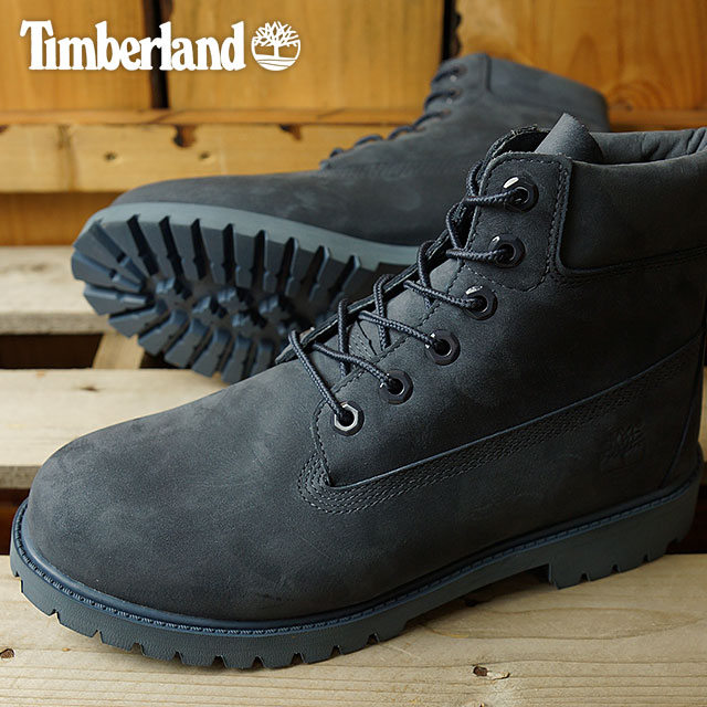 cf0fdb7ee3f8 Timberland Timberland boots Lady s-adaptive youth standard 6 inch Premium  Waterproof Boot 6 inches premium waterproof boots Navy Nubuck (A171S FW16)  ...
