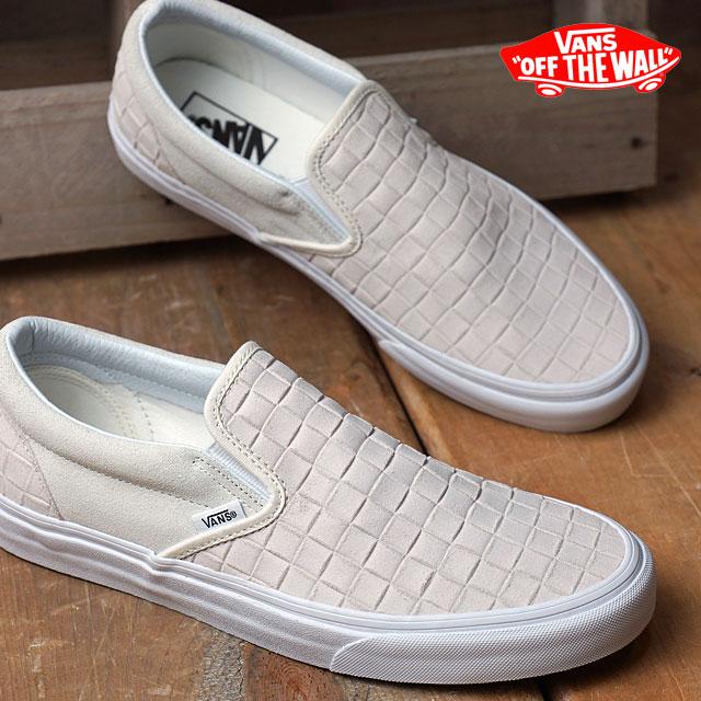 Vans classic slip-on VANS mens Womens sneakers slip-on CLASSIC CLASSIC SLIP-ON  (SUEDE CHECKERS) BLANC DE BLANC (VN0004MPJRL FW16)