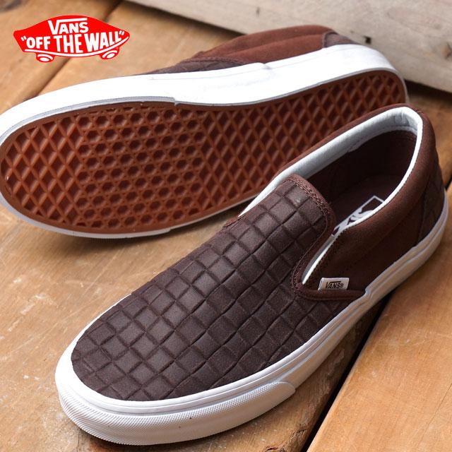 5f90867e679 Vans classical music slip-on VANS men gap Dis sneakers slip-ons CLASSIC  CLASSIC SLIP-ON (SUEDE CHECKERS) CHESTNUT (VN0004MPJRM FW16)