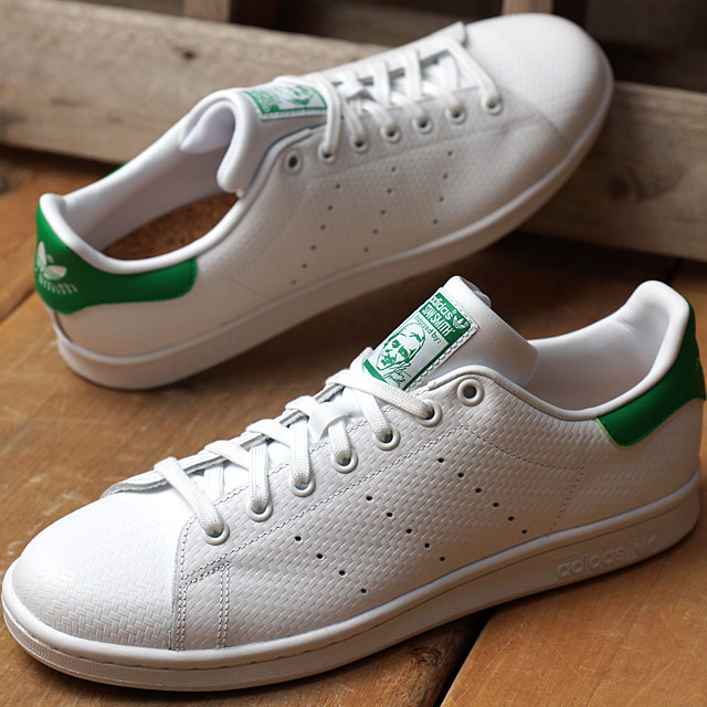 brand new 64d07 41e6d Adidas originals Stan Smith adidas Originals mens Womens STAN SMITH running  white / running white / green (S80029 FW16)