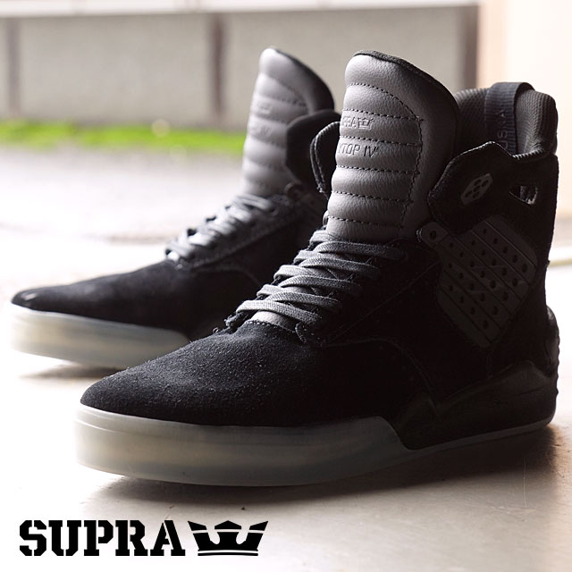 85bd43bcc082 Surpra sky top 4 SUPRA men gap Dis skating shoes sneakers SKYTOP 4  BLACK-TRANSLUCENT (08155-049 FW16)
