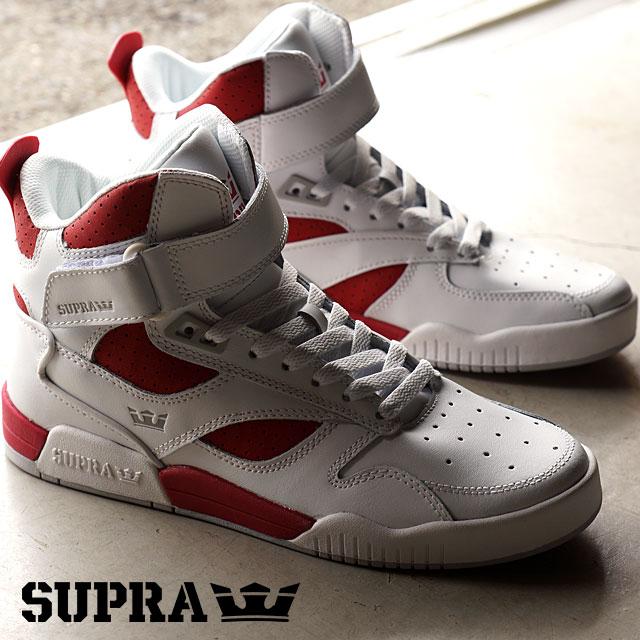 finest selection 27565 2c177 Surpra bully car SUPRA men gap Dis skating shoes sneakers BLEEKER WHITE RED-WHITE  ...