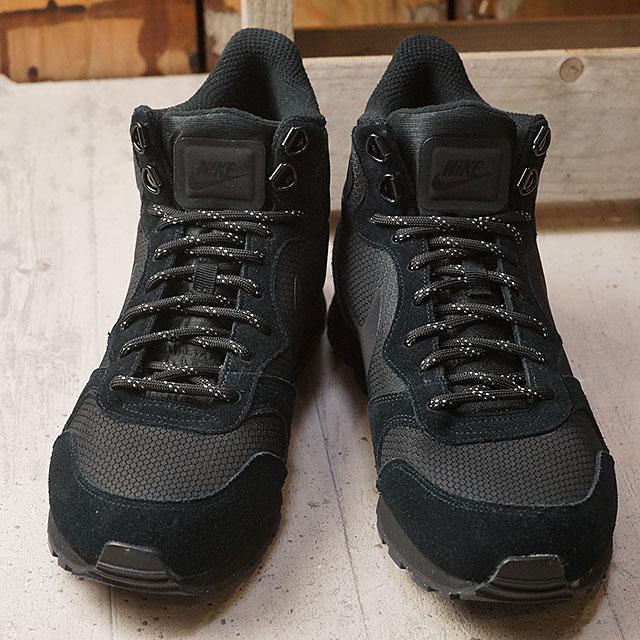 b3cdbbcb4b537 NIKE Nike sneakers MD RUNNER 2 MID PREMIUM Nike mid runner 2 mid premium  Black Black (844864-002 HO16)