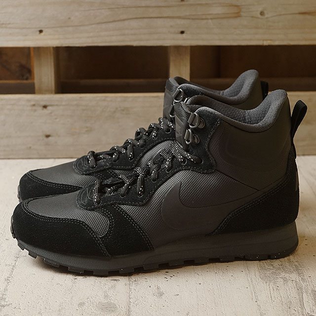 sports shoes 02256 1b820 NIKE Nike sneakers Ladys WMNS MD RUNNER 2 MID PREMIUM Nike women mid  runner 2 mid premium black  black  アンスラサイト (845,059-001 HO16) shoetime