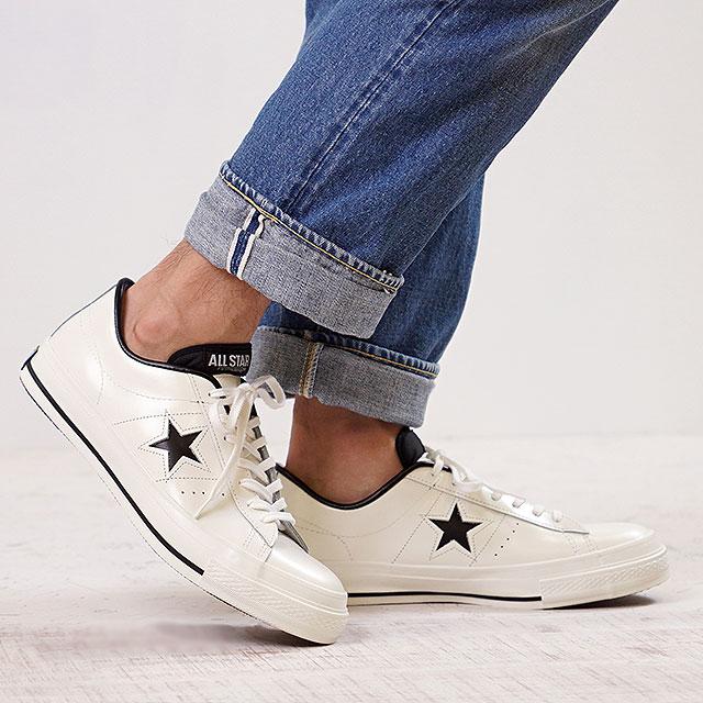 【月間優良ショップ】CONVERSE コンバース ONE STAR J ワンスター J ホワイト/ブラック (32346510)【e】【コンビニ受取対応商品】