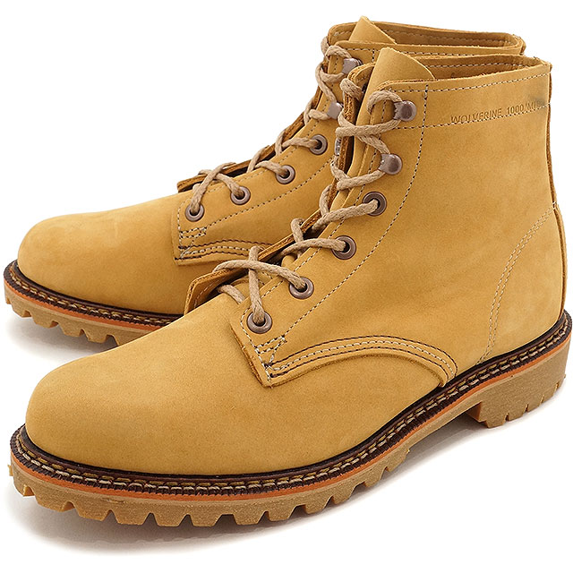 93b0104a025 Wolverene 1,000 miles boots Duval WOLVERINE Wolverene men work boots  1000Mile Boots DUVALL D Wise Honey Nubuck shoes (W40198 FW16)