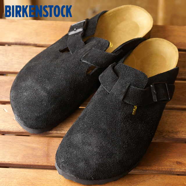 25ce32218c38 ビルケンシュトックボストン BIRKENSTOCK men gap Dis sandal BOSTON suede cloth leather  black (GC060493 GC060491 FW16)