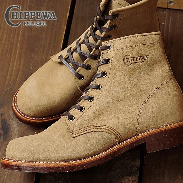 71c2e5209b989 Chippewa 6-inch utility suede boots CHIPPEWA mens leather shoes inch  utility suede boots D wise khaki (CP1901G27)
