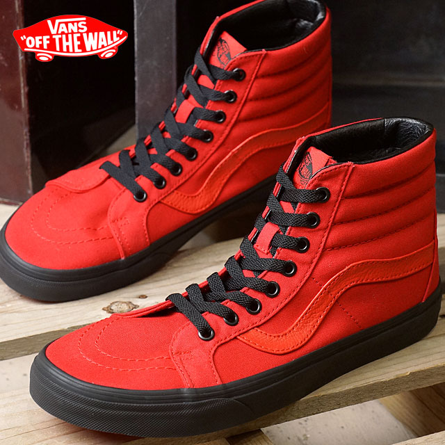 87092bae22 Vans skating high lissieu VANS SK8-HI REISSUE (BLACK OUTSOLE) RACING  RED/BLACK (VN0A2XSBLW0 HO16)