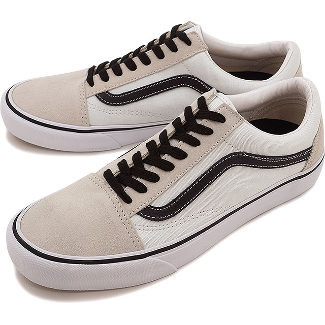 Furgonetas Skool Viejo Favorable 50º Aniversario Zapatos Blanco Y Negro De Skate SzQImZ