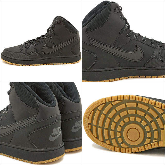 af65e428106a NIKE Nike sneakers SON OF FORCE MID WINTER Nike sun of force mid winter  black   black   アンスラサイト   gum light brown (807