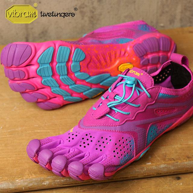 Vibram 五趾鞋 Vibram 五手指妇女 V 运行蓝紫色 Vibram 五手指五个手指鞋赤脚妇女 (16W3107)