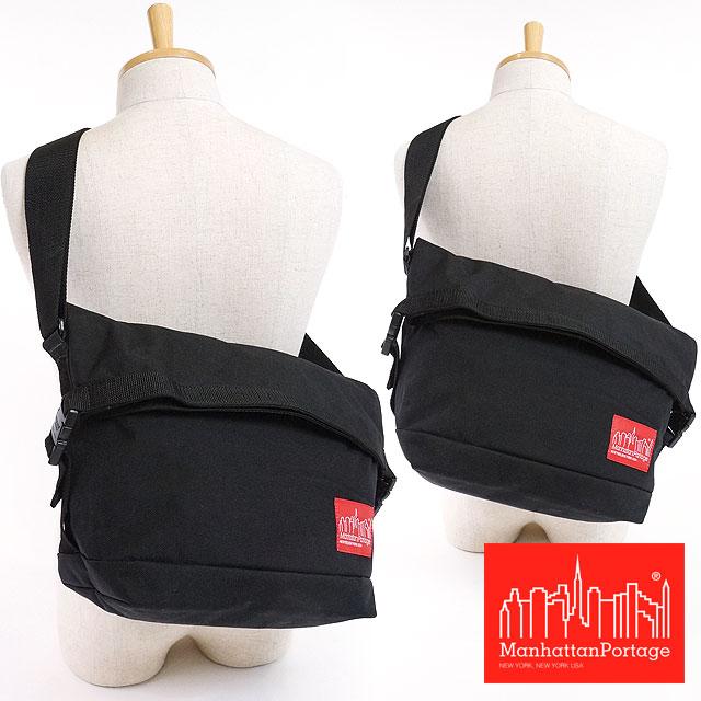 【即納】マンハッタンポーテージ ローリングサンダーボルト メッセンジャーバッグ Manhattan Portage ショルダーバッグ Rolling Thunderbolt Messenger Bag BLACK (MP1666 FW16) shoetime【コンビニ受取対応商品】