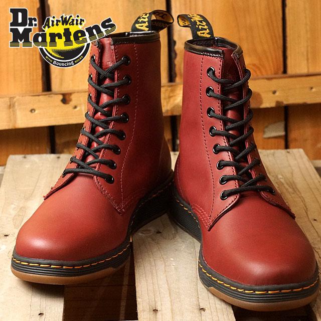 klasyczny styl cała kolekcja buty do biegania Doctor Martin men gap Dis boots Dr.Martens NEWTON 8-EYE BOOT Newton 8 hall  CHERRY RED shoes (21856600)