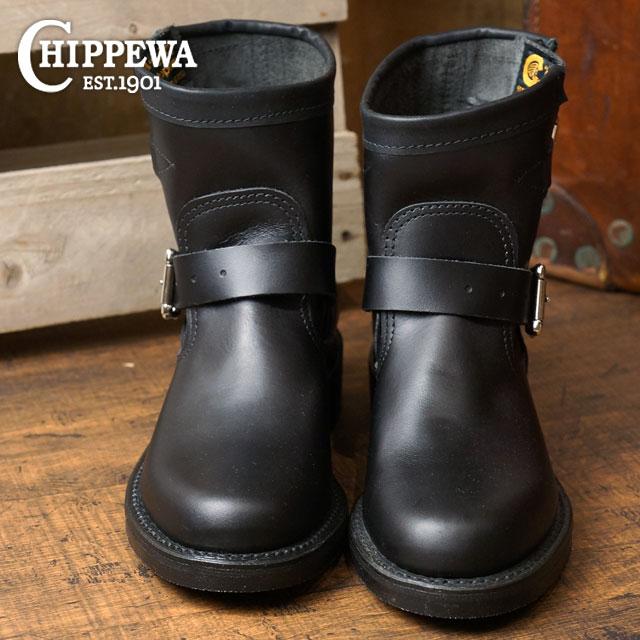チペワ ウーマンズ 7インチ オリジナル エンジニアブーツ CHIPPEWA レディース 革靴 womens 7-inch original engineer boots Mワイズ ブラック (CP1901W11)【コンビニ受取対応商品】