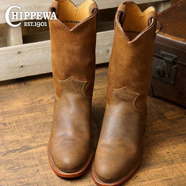 チペワウーマンズ 10 inches loper boots CHIPPEWA Lady s leather shoes womens 10-inch  roper boots M Wise brown Bonn bar (CP1901W61) 8908d2b06c