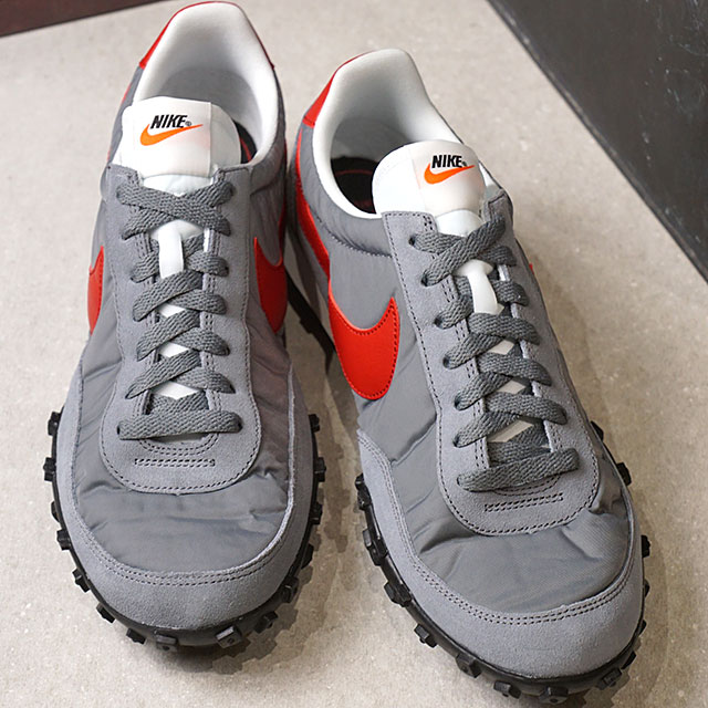 95e490d0558 Nike NIKE sneakers men WAFFLE RACER 17 waffle racer 17 cool gray   gym red   S white   black  S orange shoes (876