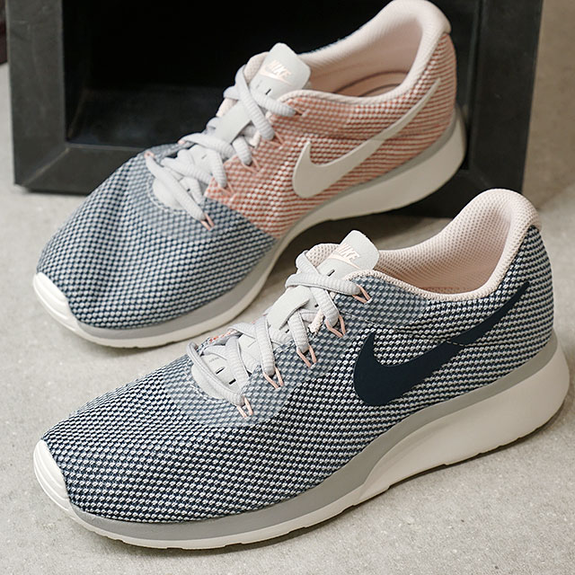 NIKE Nike sneakers Lady's WMNS TANJUN RACER women tongue Jun racer P  platinum /A navy /A blue /S ティント / sail (921,668-002 FW17)