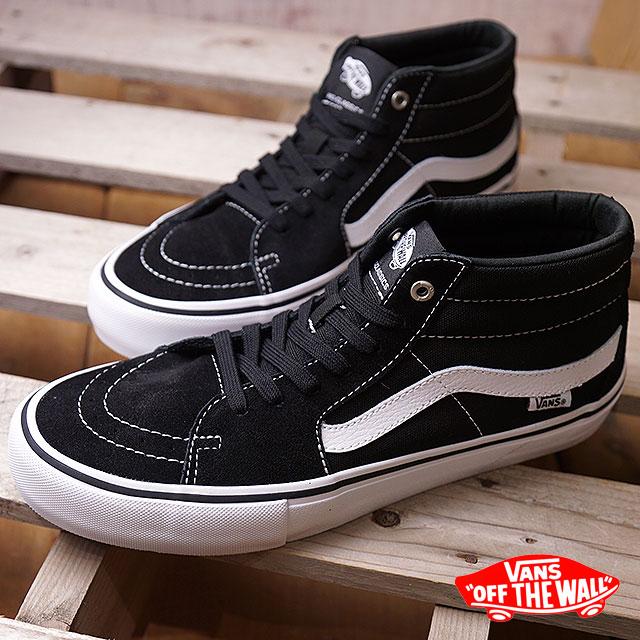 0bf7867a64 VANS vans sneakers men PRO SKATE Pross Kate SK8-MID PRO skating mid pro  BLACK WHITE (VN0A347UY28 FW17)