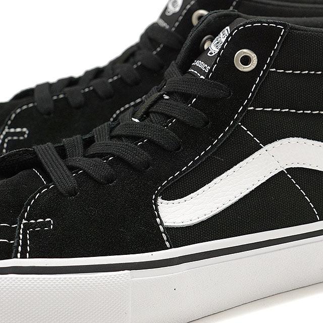 27f7fb3c3aa5 VANS vans sneakers men PRO SKATE Pross Kate SK8-MID PRO skating mid pro  BLACK WHITE (VN0A347UY28 FW17)
