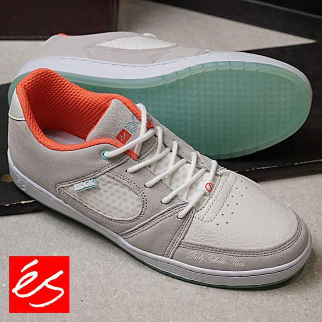 es エス スニーカー 靴 メンズ・レディース ACCEL SLIM × DGK アクセル スリム GREY/WHITE スケートシューズ (FW17)【コンビニ受取対応商品】