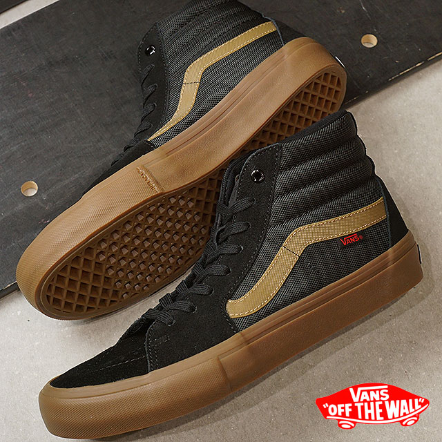 91b41e97b26 VANS X THRASHER vans slasher sneakers men SK8-HI PRO skating high  professional (スケハイ) BLACK GUM skating shoes (VN0A347TOTF FW17)