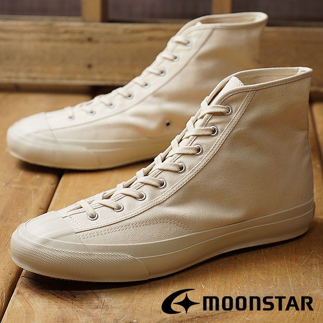 【サイズ交換無料】Moonstar ムーンスター スニーカー メンズ・レディース FINE VULCANIZED GYM CLASSIC HI ファインバルカナイズド ジム クラシック ハイ WHITE (54320921 FW17) 日本製 靴【コンビニ受取対応商品】